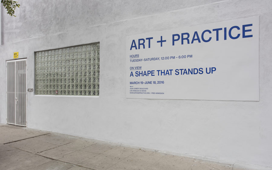 A Shape That Stands Up March 19th - June 18th 2016 Art + Practice, Los Angeles